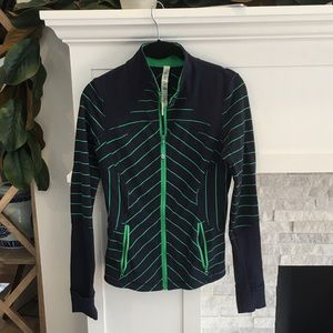 Lululemon Blue and Green Athletic Jacket Size 6